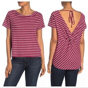 NWT CODEXMODE Nordstrom Striped Twist Back Top